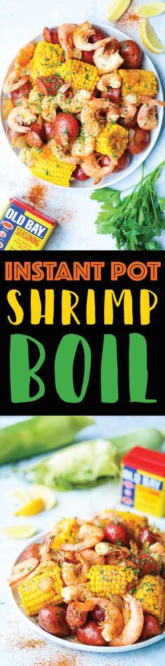 Instant Pot Shrimp Boil - Damn Delicious Cooker Recipes, Crockpot Recipes, Camping Recipes, Frozen Cooked Shrimp, Potted Shrimp, Seafood Boil Recipes, Instant Pot Dinner Recipes, Latest Recipe, Country Boil