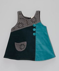 Take a look at this Pine & Blue Lacy Dress – Toddler & Girls by the Silly Sissy on #zulily today!