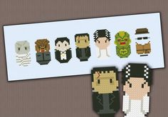 Classic Horror Movies Monsters - Cross Stitch Patterns - Products