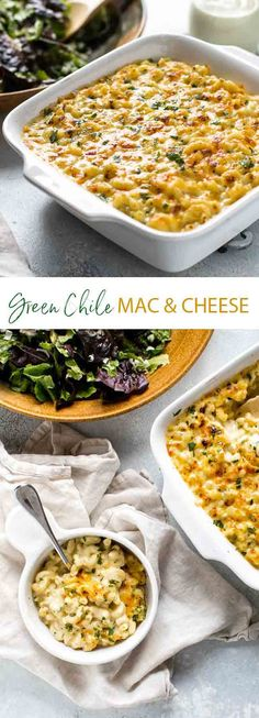 This creamy green chile macaroni cheese with mild cheddar and Monterey jack cheese starts on the stove top and finishes under the broiler and is the best kind of comfort food.