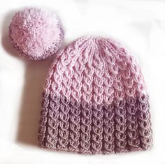 Ravelry: Fargedypp Lue pattern by Helle Slente Design Knitting Patterns, Crochet Patterns, Beanies, Ravelry, Knitted Hats, My Design, Inspiration, English, Fashion