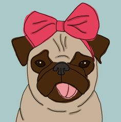 pug drawing how cuuute doozy:  Just added some sweet pug prints to the shop!