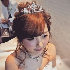 #ポニーテール 風 披露宴 バージョン *・゚゚ ・*:.。..。.:* ゚:*:✼:* :✼.。✿.。 #ナチュラル#ねじり #ウエディング#wedding #ヘアアレンジ#hairarrange #ヘアセット#hairset #ヘアメイク#hairmake#ブライダル#bridal #ヘアスタイル#hairStyle#ブライダルヘアメイク #日本中のプレ花嫁さんと繋がりたい#花嫁#結婚式#披露宴#前撮り#花嫁#プレ花嫁#シニヨン #chiekoko