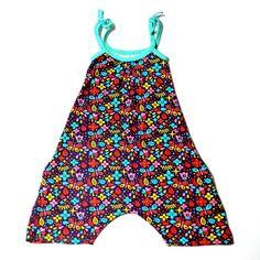Petos enteros con bolsillos para niñas de 2 a 6 años