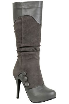 Jessica 7 High Heel Long Boot In Gray Heel is a bit high but I like them otherwise :-)