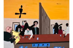 Jacob Lawrence, Bar and Grill, 1941, gouache