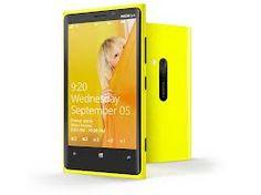 Yellow Nokia Lumia 920.