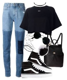 A fashion look from May 2016 featuring Off-White tops, Paige Denim jeans et Vans sneakers. Browse and shop related looks. Style Outfits, Grunge Outfits, Trendy Outfits, Girl Outfits, Summer Outfits, Cute Outfits, Fashion Outfits, Look Fashion, Teen Fashion