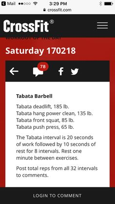 Workout tabata Weightlifting