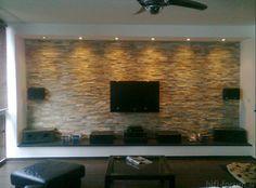Natursteinwand-wohnzimmer-Das-Design-des-Wohnzimmers-mit-Natursteinwänden