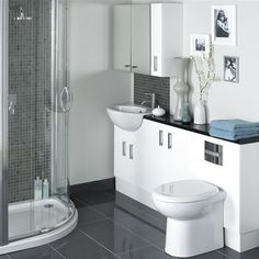 White Compact Bathroom Layout http://hative.com/small-bathroom-design-ideas-100-pictures/