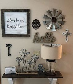Vintage Farmhouse Decor Galvanize Windmill Wall Decor-Custom Metal Windmill Wall Decor-Fixer Upper Rustic Farmhouse Wind - This custom handmade windmill comes with mixed metals.a touch of rustic, Rustic Wall Decor, Diy Wall Decor, Diy Home Decor, Country Wall Decor, Foyer Wall Decor, Boho Decor, Living Room Designs, Living Room Decor, Paint Colors For Living Room