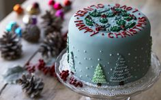 Traditional fruity Christmas Cake, perfect with tea after a long walk in the snow.