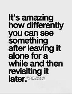 Revisit then revise