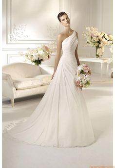 Eischulter Schlicht Günstig Elegante Brautkleider 2014