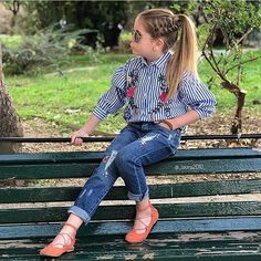 136 cute kids summer fashion ideas – page 1 Little Girl Outfits, Cute Girl Outfits, Kids Outfits Girls, Little Girl Fashion, Cute Little Girls, Cute Kids Fashion, Tween Fashion, Toddler Fashion, Fashion Ideas