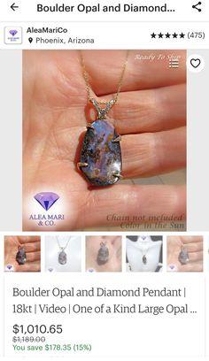 Opal Necklace, Pendant Necklace, Diamond Pendant, Pendants, Unique Jewelry, Etsy, Pendant, Charms