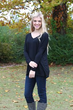 V-neck... black piko top. http://www.sidelinesass.com/collections/piko-collection/products/piko-v-neck-black