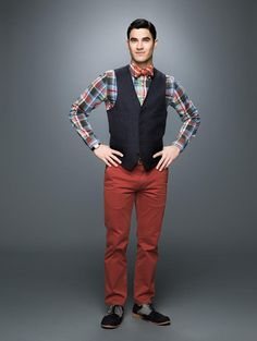 Darren Criss as Blaine on the sixth and final season of GLEE