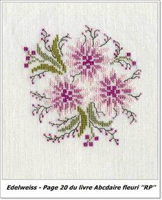 Edelweiss Small Cross Stitch, Cross Stitch Tree, Cross Stitch Heart, Cross Stitch Flowers, Cross Stitch Designs, Cross Stitch Patterns, Cross Stitching, Cross Stitch Embroidery, Embroidery Patterns