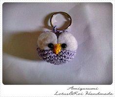 Gufetto Amigurumi Portachiave, by Amigurumi Lotus Handmade, 3,00  su misshobby.com