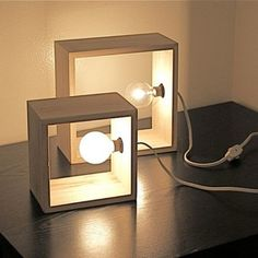 Simples luminária faça você mesmo. Foto via Pinterest…