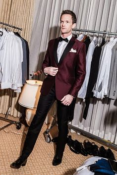 Behind the Scenes With Neil Patrick Harris and His Five Killer Oscars Tuxedos Prom tux goals