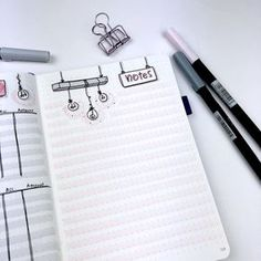 Plan With Me - May 2018 - Bullet Journal Setup - Notes Page