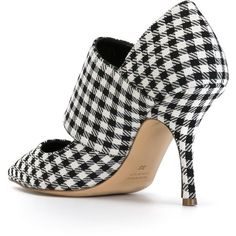 Erika Cavallini Semi Couture Gingham Check Pumps (€335) ❤ liked on Polyvore featuring shoes, pumps, black white pumps, black and white pumps, black white shoes, black white checkered shoes and black and white checkered shoes