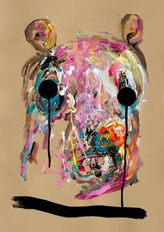 LAGRIMAS NEGRAS - Acrylics on coloured paper_500 x 700 mm