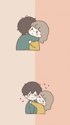 Love Cartoon Couple, Cute Couple Comics, Cute Couple Art, Cute Love Cartoons, Anime Love Couple, Kawaii Wallpaper, Cute Wallpaper Backgrounds, Wallpaper Iphone Cute, Cute Cartoon Wallpapers