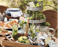 Need some inspiration for your next shindig at home? Pottery Barn's website now has a cool new tool called Party Planner. There are some great hosting tips, timelines, recipes, party playlist, and even downloadable invitations. My stomach was rumbling as I was looking over their Mojitos and Tacos party ideas. This would be a great alternative to the traditional summer barbecue!