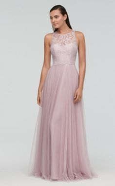 97853df4e5a8 This bridesmaid gown of Aria Lace and Bobbinet is an exquisite combination  of soft and romantic touches in one feminine style.