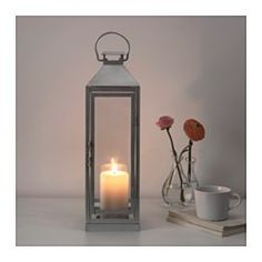IKEA - LAGRAD, Lantern f block candle, in/outdoor, Suitable for both indoor and outdoor use.