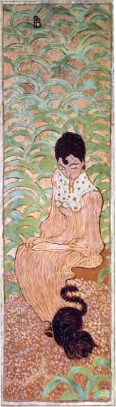 Sitting Woman with a Cat, 1892-1898 Pierre Bonnard