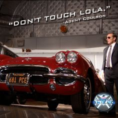Coulson is very protective of his car lol #CoulsonLives