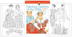 Fabulous Fashions of the Coloring Book [Retro coloring fun!] : Paper Dolls of Classic Stars, Vintage Fashion and Nostalgic Characters, for Kids and Collectors Victorian Paper Dolls, Vintage Paper Dolls, Barbie Fashion Sketches, Vintage Coloring Books, Barbie Paper Dolls, Colorful Fashion, Fashion History, Coloring Pages, Vintage Fashion