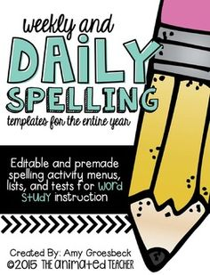 Extend your students word knowledge through Word Study by refocusing instruction on spelling patterns, rather than rote memorization of word lists. Word study provides students with opportunities to investigate and understand words that are based on a specific pattern.