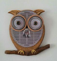 Handmade Mixed Media Owl by JNicholsArt on Etsy