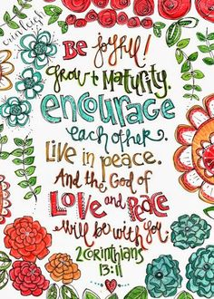Art by Erin Leigh: Printable Scripture Art: 2 Corinthians 13:11