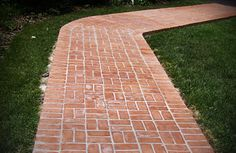 Traditional Brick Sidewalk