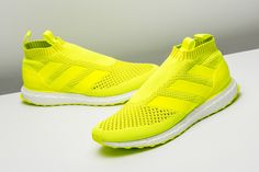 This fluorescent pair of adidas Ace 16+ Purecontrol Ultra Boost take form and function to a new level.  http://www.stadiumgoods.com/ace-16-purecontrol-ultrab-syello-syello-silvmt-by1598?utm_content=bufferb68b0&utm_medium=social&utm_source=pinterest.com&utm_campaign=buffer  #adidas
