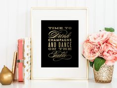 Printable  Dance on the Table Print  8x10 by fineanddandypaperie