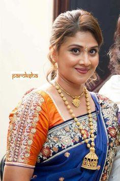Saree Blouse Designs, Blouse Patterns, Blouse Styles, South Indian Blouse Designs, Blouse Desings, Most Beautiful Indian Actress, Dresses Kids Girl, Indian Beauty Saree, Party Wear Sarees