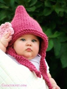 Knitting Pattern Baby Pixie Hat Baby Toddler Child by CreatiKnit - $5.50