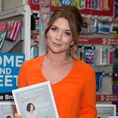 Candice Brown signs her book Comfort at WH Smith's in North London