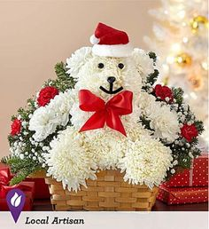 Enjoy #christmas with our floral very own merry teddy!