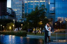 discovery green downtown houston engagement photos
