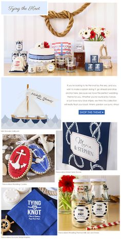 NEW Spring Wedding Lookbook - Tie the knot with preppy stripes and navy blue.