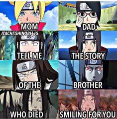 Boruto and Sarada have an uncle that gave his life for the sake of their parents (Neji and Itachi) Anime Naruto, Naruto Comic, Naruto Shippuden Sasuke, Naruto Vs Sasuke, Naruto Chibi, Naruto Sad, Boruto And Sarada, Wallpaper Naruto Shippuden, Naruto Cute